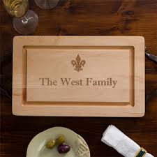 personalized cutting board engraved family name 13 maple cutting board with serving handles