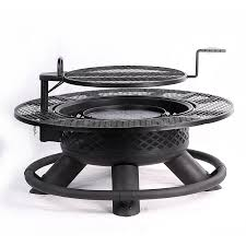 wood burning fire table big horn 47 in w texas black steel wood burning fire pit fire pits