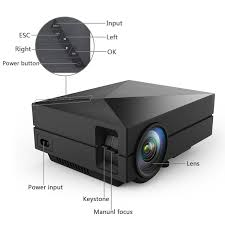 lelec gm60 mini led projector lcd 1000 lumens multi
