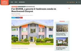 press alicia lawhon for 599k a groovy 2 bedroom condo in beachwood canyon curbed la