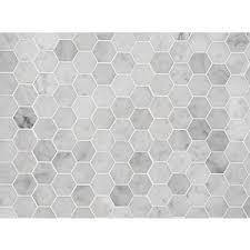 Bathroom Tile Ideas White Carrara by Bathroom Ideas White Carrara Marble Hexagon Mosaic Wall Ti
