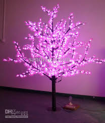 2018 1 8m pink led artificial tree lights with pine leaf for