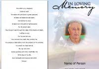 free editable funeral program template best and professional