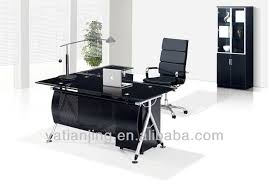 glass top office desk modern glass top office table design buy modern glass top office