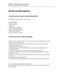 job duties of a dentist responsibilities dentist job description