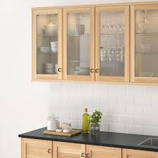 ikea kitchen cabinets glass torhamn glass door ash 15x30