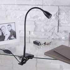le de bureau à pince le de bureau led intégrée à pince noir led gao inspire leroy