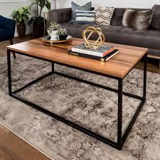 walker edison coffee table open box coffee table walker edison