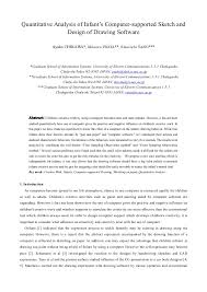 quantitative analysis of infant u0027s computer supported sketch and desig u2026