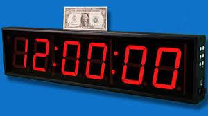 countdown clock rental hire a big count clock