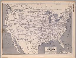 Chicago United States Map by United States Railroad Map David Rumsey Historical Map Collection