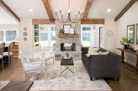 Exposed Beam Ceiling Living Room by Season 4 Episode 1 House Seasons Joanna Gaines And Magnolia
