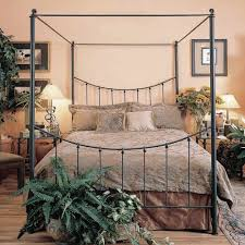 wrought iron canopy bed king design bedroom with wrought iron