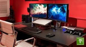 Gaming Station Computer Desk Gaming Computer Desk Ikea Work Stations Pinterest Gaming