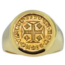 cross gold rings images 1734 dated portuguese gold cross coin mens ring jpg