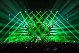 laser light show miami martin garrix vt pro design