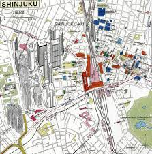 Shinagawa Station Map Jr Shinjuku Station