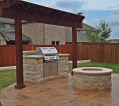bbq grill fire pit and patio remodeling contractor complete