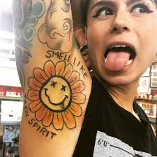 nirvana themed tattoo on armpit best tattoo ideas gallery