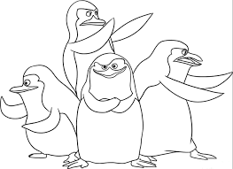 madagascar posing together madagascar coloring pages pinterest