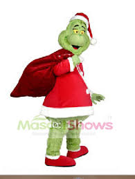 Grinch Halloween Costume Dr Seuss Grinch Stole Christmas Mascot Costume Fancy