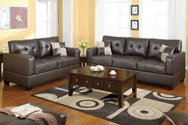 Brown Leather Living Room Decor Black Leather Living Room Set Martino Black 6 Pc Leather Power