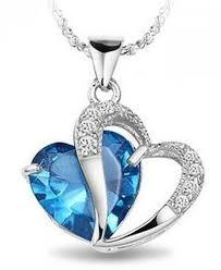 blue sapphire necklace pendant images Best seller white gold rhodium plated pendant blue sapphire jpg