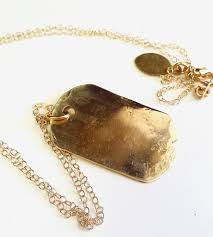 Custom Gold Dog Tags Custom Stamped Brass Dog Tag Necklace Jewelry Necklaces Make