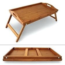 folding oversized wood tray table in espresso wooden tray tables stunning breakfast in bed table tray bamboo