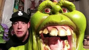 spirit halloween slimer prop youtube