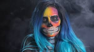 halloween hat makeup tutorial skull makeup with neon
