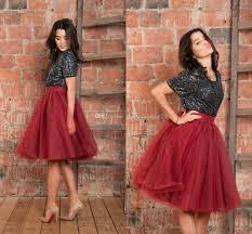 2017 burgundy red tutu tulle skirts for women high waist full