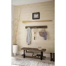 alaterre furniture pomona reclaimed wood coat hook with bench