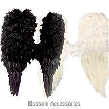 Halloween Costume Wings As139 Black White Feather Large Wings Angel Halloween