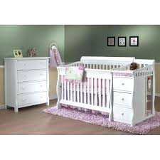 4 In 1 Convertible Crib With Changing Table White Crib And Changing Table Getanyjob Co