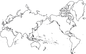 america map no borders world map pacific centered robinson projection no borders