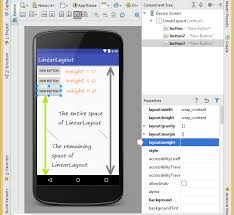 android layout weight attribute android ui layouts tutorial