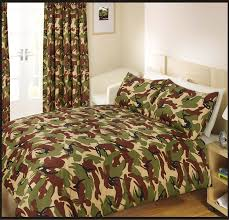 girls camouflage bedding double bed duvet quilt cover bedding set army camouflage green