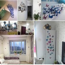 3d butterfly kids wall decal mural sticker kit art removable home