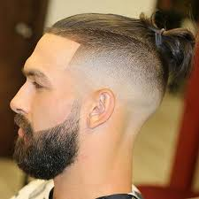 mens hair topknot 27 best male bun with beards images on pinterest long length