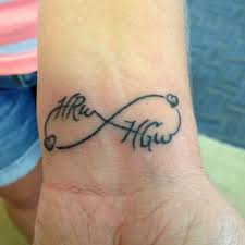 husband wife infinity tattoos love infinity tattoo name designs