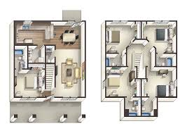 floor plan 2 story house glamorous two story 6 bedroom house plans gallery best
