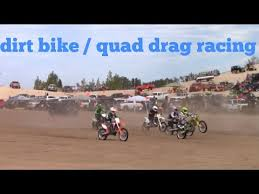 motocross drag racing dirt bike quad drag racing silver lake labor day youtube