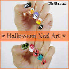 missjjan u0027s beauty blog halloween nail art 5 cute and easy