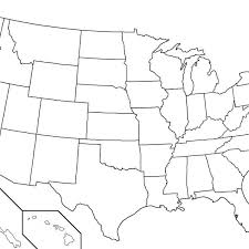 united states including alaska and hawaii blank map capital map usa map usa states free printable interactive and