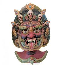 wall masks guardian wooden mask bhairava atrangi