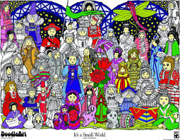 coloring posters in a tube doodle art it u0027s a small world