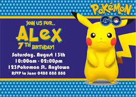 Create Your Own Invitation Card Pokemon Birthday Invite Cloveranddot Com
