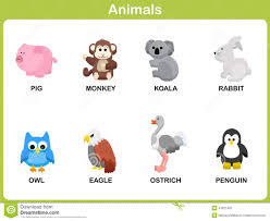 cute vector set of animal for kids stock vector image 44321487