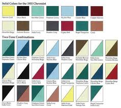 paint color options for 1955 1955 chevys